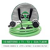 Duosida Ladekabel | Typ 1 | 7,4 kW | 32 A | 1-phasig | 10 m