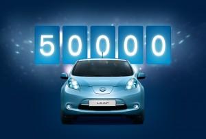 Nissan Leaf 50.000 verkaufte Modelle