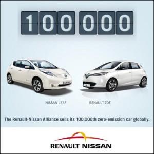 100.000 Elektroautos Renault-Nissan