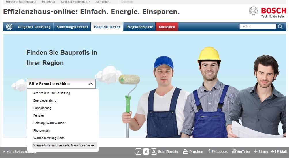 Effizienzhaus kostenloses Angebot von Bosch – Handwerker online finden
