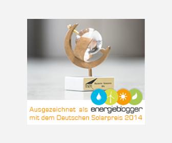 Energieblogger erhalten deutschen Solarpreis 2014 in der Kategorie Medie