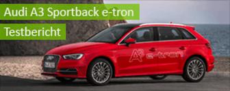 Audi A3 Sportback e-tron im Test