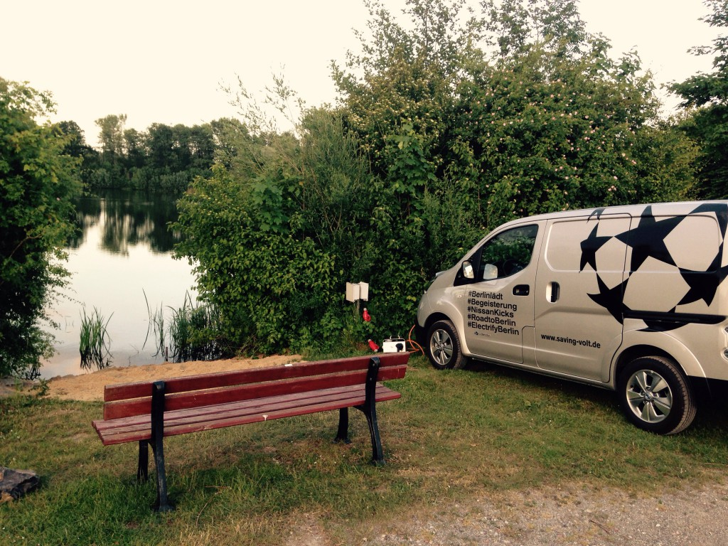 Camping am See bei Hannover mit Nissan e-NV200