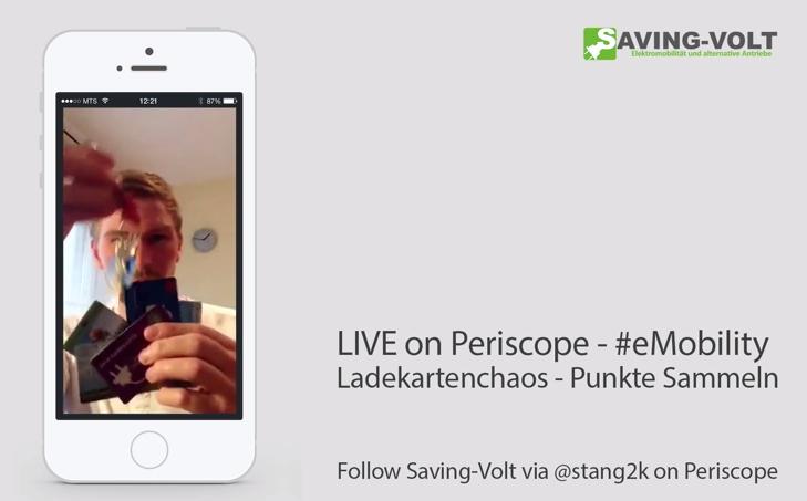 LIVE on Periscope – Ladekartenchaos bei eMobility [S01][E01]