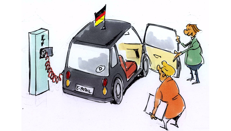 Merkel unter Strom – Schüler sammeln für Elektroauto