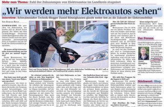 Interview zur Elektromobilität in der HNA