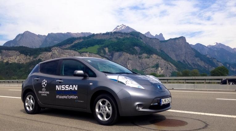 Mit dem Nissan LEAF zum UEFA Champions League-Finale 2016 nach Mailand