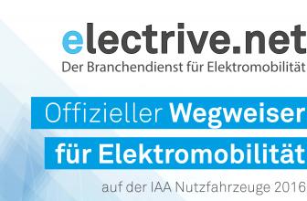Wegweiser für Elektromobilität zur IAA Nutzfahrzeuge 2016