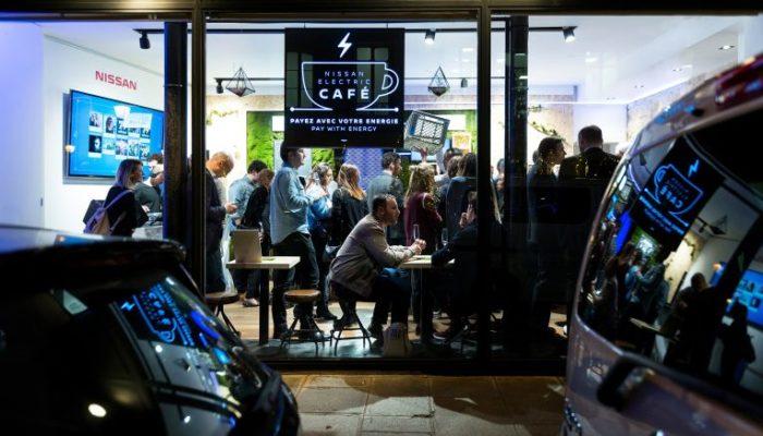 Electrify the World im Nissan Popup-Café in Paris