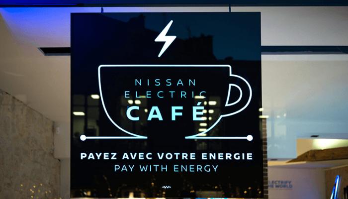 Nachhaltige Projekte im Nissan Electric Café in Essen